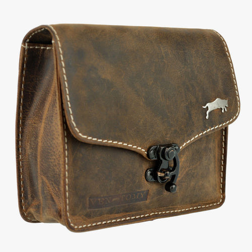 VEN-TOMY • LEATHER BELT BAG WITH CARABINER CLOSURE