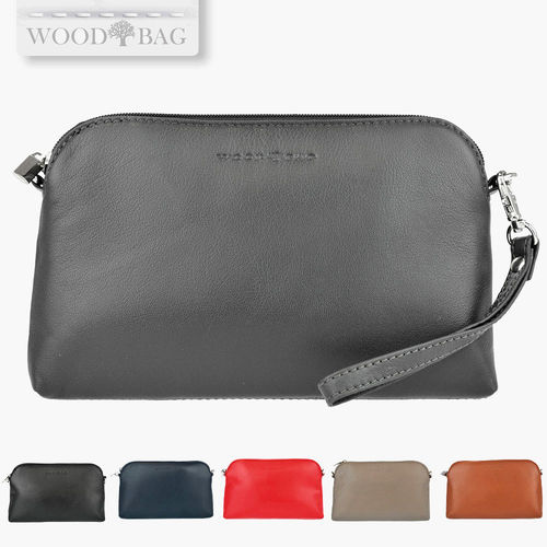 WOODBAG LEATHER CLUTCH WITH HAND WRAP