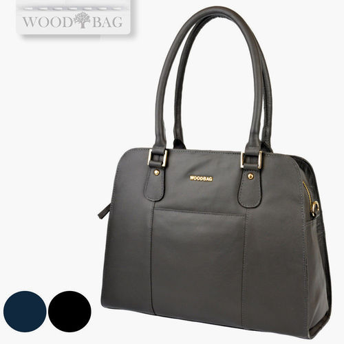 WOODBAG WOMEN'S HANDBAG IN HIGH QUALITY LEATHER