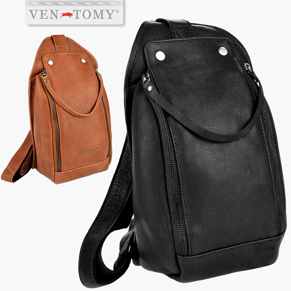 VEN-TOMY • Washed leather bodybag