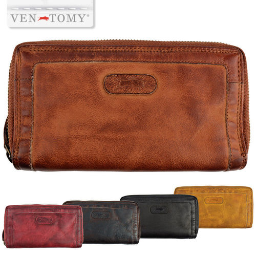 VEN-TOMY • WALLET MADE OF SOFT WASHED LEATHER