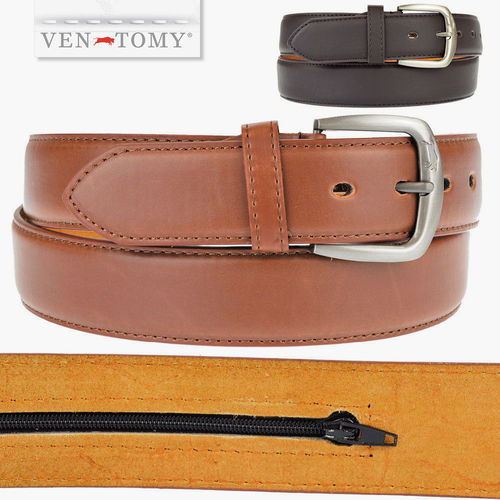 VEN-TOMY • EDGED SYNTETIC LEATHER BELT UP TO 120 CM