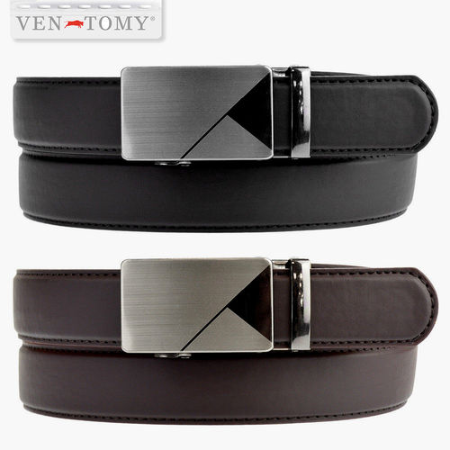 VEN-TOMY • MODERN BELT IN PLAIN LEATHER WITH CLASP LOCK UP TO 120 CM