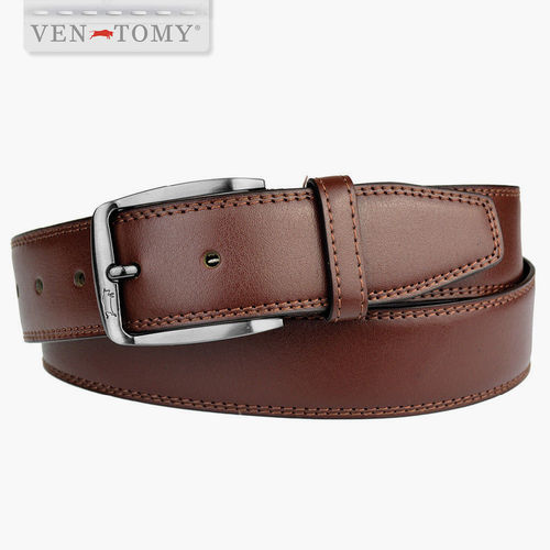 VEN-TOMY • CLASSIC LEATHER BELT UP TO 130 CM