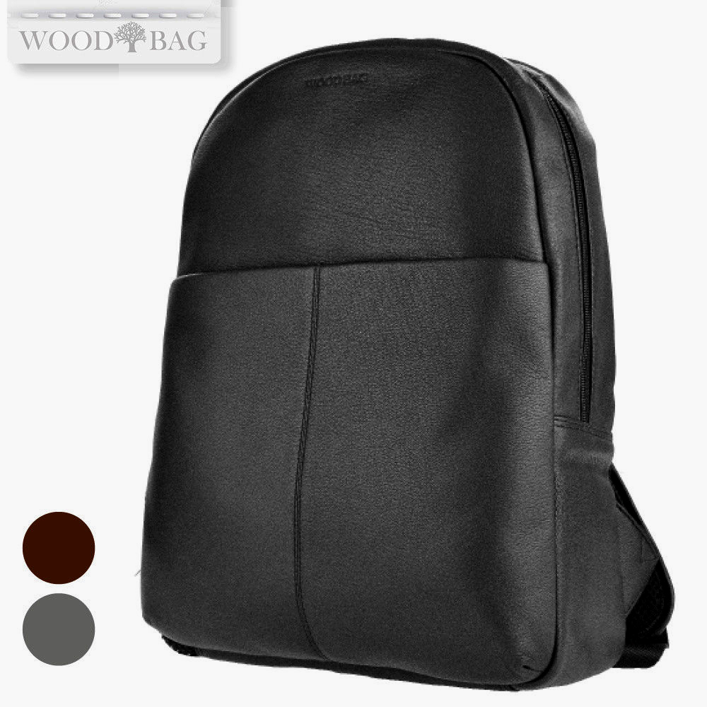 WOODBAG • CITY BACKPACK MADE OF SOFT LEATHER