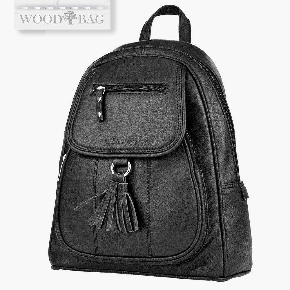 WOODBAG • CITY BACKPACK OF SOFT LEATHER