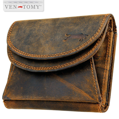 VEN-TOMY • Women leather wallet with RFID protection