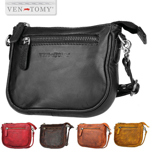 VEN-TOMY • Small leather bag with removable shoulder strap