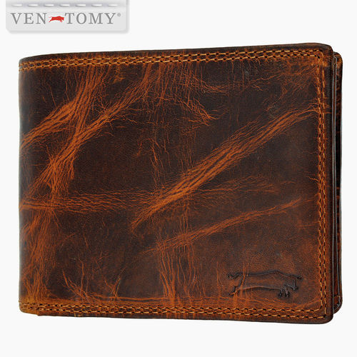 VEN-TOMY • men´s leather wallet with RFID protection