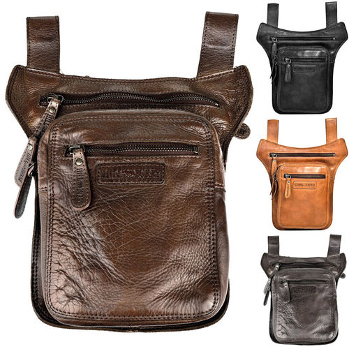 HILL BURRY • Hip bag leather