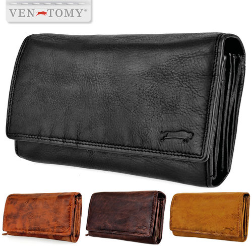 VEN-TOMY • Washed leather women´s wallet