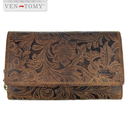 VEN-TOMY • women´s leather wallet with RFID protection