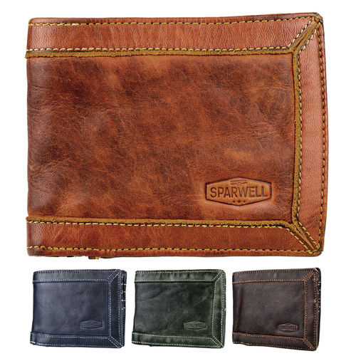 SPARWELL • Men´s leather wallet