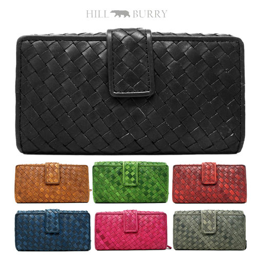 HILL BURRY • Leather wallet RFID-Protected